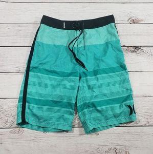 Hurley men aqua mens blue board shorts size 30